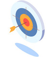 target with arrow in middle as symbol achieved vector image
