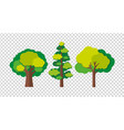 three trees in different shapes vector image vector image