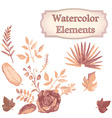 Watercolor design elements vector image vector image