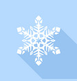 white snowflake icon flat style vector image vector image