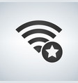 wifi connection signal icon with favorites star vector image vector image