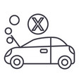 car broke line icon sign on vector image