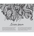 Black and white abstract hand-drawn pattern vector image