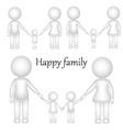 3D happy family vector image vector image