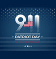 911 memorial patriot day card with american vector image vector image