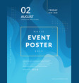 abstract poster event template vector image vector image