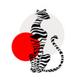 abstract silhouettes big cat vector image vector image