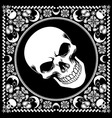 bandana pattern with skull vector image vector image