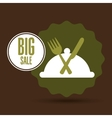big sale fresh food healthy vector image