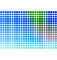 blue green red abstract rounded mosaic background vector image vector image