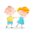 boy and girl dancing friends vector image vector image