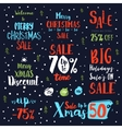 Bright Christmas sale vintage text labels vector image