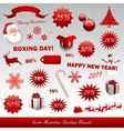 christmas boxing day icons collection vector image vector image