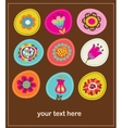 collection of cute decorative flowers greeting car vector image vector image