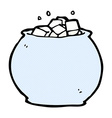 comic cartoon bowl of sugar vector image vector image