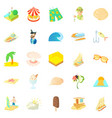 cruise icons set cartoon style vector image vector image