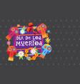 day dead traditional mexican halloween dia de vector image