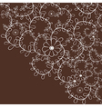 Decorative leaf curly background with flowers vector image vector image