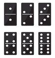 Domino black set vector image