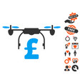 drone pound business icon with love bonus vector image vector image