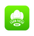 eco farm fresh icon green vector image vector image