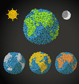 Flat design of the Earth with abstrac vector image vector image
