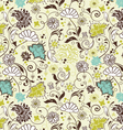 floral seamless pattern design vector image vector image