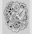 flower tattoo artwork on transparent background vector image vector image