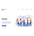 forum online chat conversation concept landing vector image