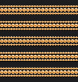 gold chains and beads horizontal lines seamless vector image vector image