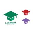 Graduation cap hat logo icon template College vector image