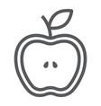 half apple line icon food and fruit fresh apple vector image vector image