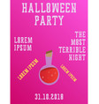 halloween party invitation halloween party scary vector image