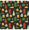 Houses seamless pattern vector | Price: 1 Credit (USD $1)