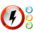icon with spark lighting bolt symbol for vector image