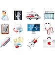 icons medicine vector image