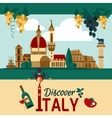 Italy Touristic Poster vector image vector image