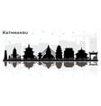 kathmandu nepal city skyline silhouette with vector image vector image
