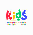 kids style playful font vector image vector image