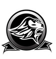 lion head emblem isolated logo vector image vector image