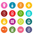 lock door types icons set colorful circles vector image vector image