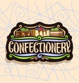 logo for confectionery vector image vector image