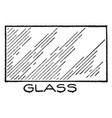 mechanical drawing cross hatching of glass vector image vector image
