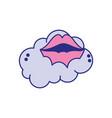mouth cartoon design vector image vector image