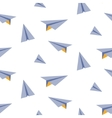 Origami paper plane seamless pattern vector image