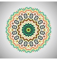Ornamental colorful round geometric pattern in vector image