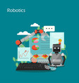 robotics concept flat style design vector image vector image