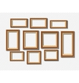 Set of white photo frames on grey background vector image vector image