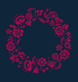 simple floral decorative wreath inspired by vector image vector image