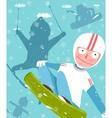 Snowboarding and Skiing Funny Free Rider Jump Fun vector image vector image